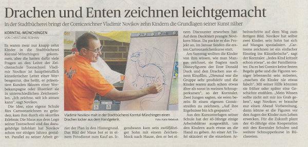 Artikel im Ludwigsburger Kreiszeitung vom 19. Mai 2015
